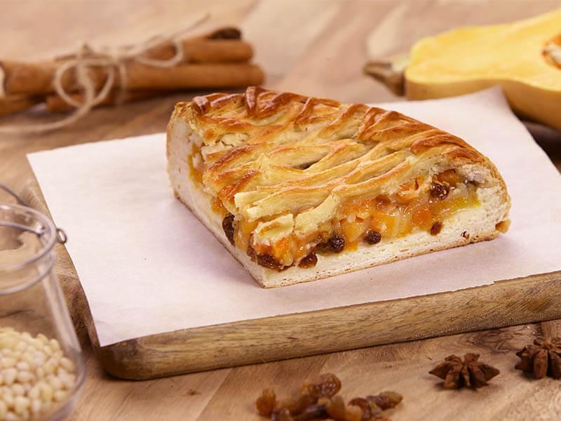 Пирог с тыквой и орешками